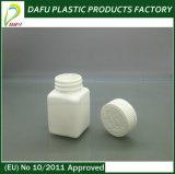 bottiglia di plastica del PE quadrato 50ml con la protezione della prova del bambino