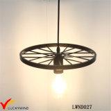Lámpara pendiente de la jaula del metal de la vendimia del techo