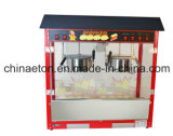 Luxe Popcorn Machine met Roestvrij staal Pot in Red Color met Electric