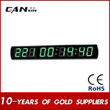 "[Ganxin] 4 ""9 Digitals World Time Electronic LED Wall Clock"