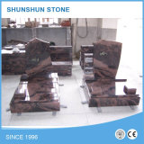 Pietra di Momument del Headstone/della pietra tombale del granito del nero di figura del cuore di angolo