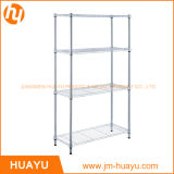 4-Shelf Wire Shelving Rack, OEM/ODM Wire Shelving Unit Storage Rack