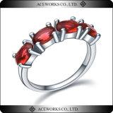 Anillo de bodas de las piedras de la plata esterlina 4 de la venta al por mayor 925