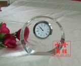 2016 Reloj de cristal del nuevo diseño de cristal para decoración de la tabla