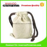 小さいアクセサリのための小さい綿のドローストリング袋