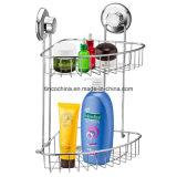 吸引のコップが付いている浴室のシャワーの容器のオルガナイザーの棚ラック