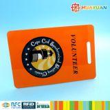 Карточка ключевой бирки бирки багажа PVC офсетной печати с шлицем