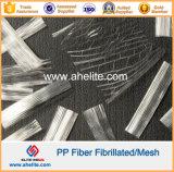 Fibra Sintética PP Fibra de Malla Microfibra Fibrilada