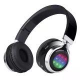 Écouteurs réglables se pliants d'écouteurs stéréo sans fil de Bluetooth avec des éclairages LED
