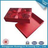 Caixa de empacotamento de papel da jóia da cor vermelha (GJ-Box497)
