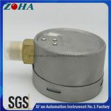 スチール・ケース真鍮のソケットが付いているマイクロ圧力計のメートル