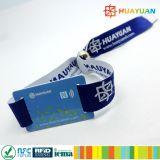 Bracelet tissé par NFC polychrome de l'IDENTIFICATION RF Ntag213 d'accès de festival de musique