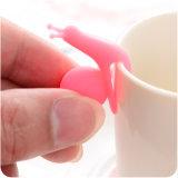 Support chaud de sachet à thé de silicones de forme d'escargot de vente