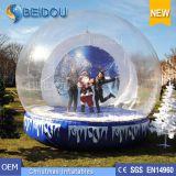 Globo umano della neve del bene durevole del PVC della foto gonfiabile gigante su ordinazione all'ingrosso di natale