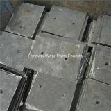 Alta parte d'acciaio di usura del manganese per il frantoio