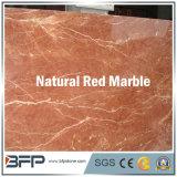 Mattonelle di pavimento di marmo rosse per l'ingresso/pavimentazione/stanza da bagno/cucina con superficie Shinning