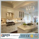 Blanc/noir/pierre/étincelle jaunes de quartz blanche/noir/quartz jaune pour le dessus de vanité de dessus et de salle de bains de cuisine