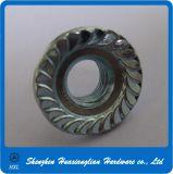 Écrou de la bride DIN6923 dentelé par hexagone galvanisé de couleur