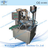 Tipo rotatorio automático máquina de rellenar de la taza del helado