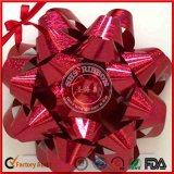 Regalo manufature lámina metálica PP cinta de la Navidad de la estrella del arco