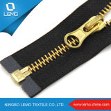 Zipper original por atacado do metal do ouro do fabricante do Zipper