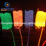"살아움직이는듯한 100cm LED Clear ""명랑한 Christmas"" Motif Rope Lights"
