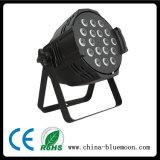 la PARITÀ della fusion d'alluminio di 10wx18PCS DMX512 LED può organizzare l'indicatore luminoso