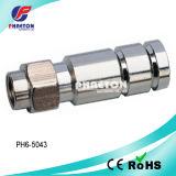 Rg11 кабельный соединитель обжатия CATV для коаксиального кабеля (pH6-5043)