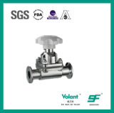 Válvula de diafragma sanitaria material del acero inoxidable