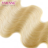Fechamento brasileiro do laço do cabelo da onda loura do corpo