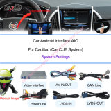 Android Auto Video Interface Including Android Navigation Box for 2014 Cadillac Xts, Cts, CT6, Srx