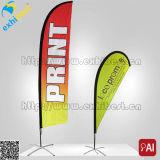 De gewaarborgde Polyester die van 100% de PromotieVlag van het Strand (de leverancier van de douane) adverteren