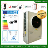 Evi Tech. -25c Winter Floor Heating 100 ~ 350sq Meter Room 12kw / 19kw / 35kw Auto-Defrost High Cop Commercial Heat Pumps Split System