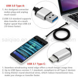 [Sq-75] USB 3.1 Type C Male a Type um USB 3.0 Male Cable 3.3 FT Nylon Braided, USB C Reversible Data Charger Cable para Google Nexus e Tipo-c Devices de Other
