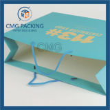 Sac de papier d'impression de Matt de cadeau bleu de laminage (DM-GPBB-138)
