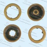 熊手急なボタンの黄銅材料
