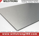 Panneau composé en aluminium de couleur métallique pour l'extérieur Using
