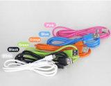O PVC colorido isolou o cabo do USB do relâmpago de 8 Pin para Samsung e iPhone, iPad