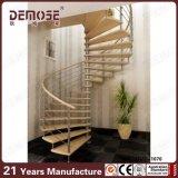 Personalizado de acero inoxidable de madera Escalera de caracol (DMS-1070)