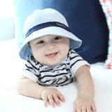 Casquillo infantil bordado verano del bebé del algodón de la manera
