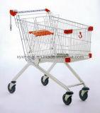 Chariot de chariot à achats d'épicerie en métal de matériel de supermarché
