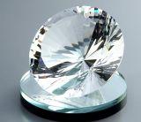 Grande pièce maîtresse en cristal de mariage de presse-papiers de diamant de coupure neuve multi de couleur
