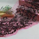 Recorte químico de la tela del cordón de la gasa del acoplamiento para la ropa y las ropas