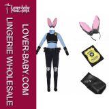 Costume талисмана зайчика Zootopia Джуди Hopps для взрослых (L15360)