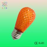 Lámparas talladas S14 de la luz de la secuencia del bulbo LED S14 E27 de la muestra del plástico LED
