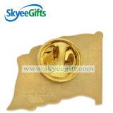 Distintivo d'argento di Pin di metallo della bandierina del pilota dell'oro dei regali promozionali