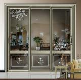 Puerta de vidrio de desplazamiento de cristal de aluminio para el balcón