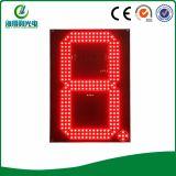 Sinal branco do indicador do preço do diodo emissor de luz da gasolina da cor