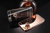 Parachoques del metal con la caja del teléfono de la contraportada del espejo para el iPhone 5/5s/5c