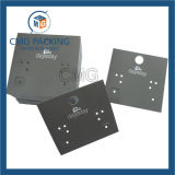 Cartes pliables claires de clip de cheveu de PVC de qualité
